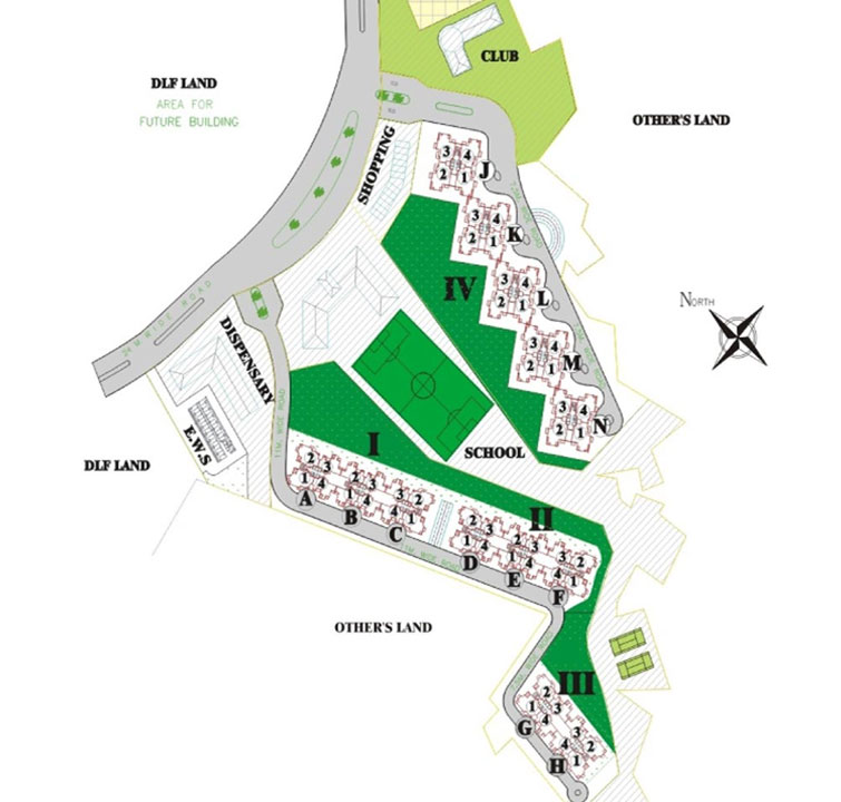 Dlf park place dlf projects property in gurgaon for Park place floor plans