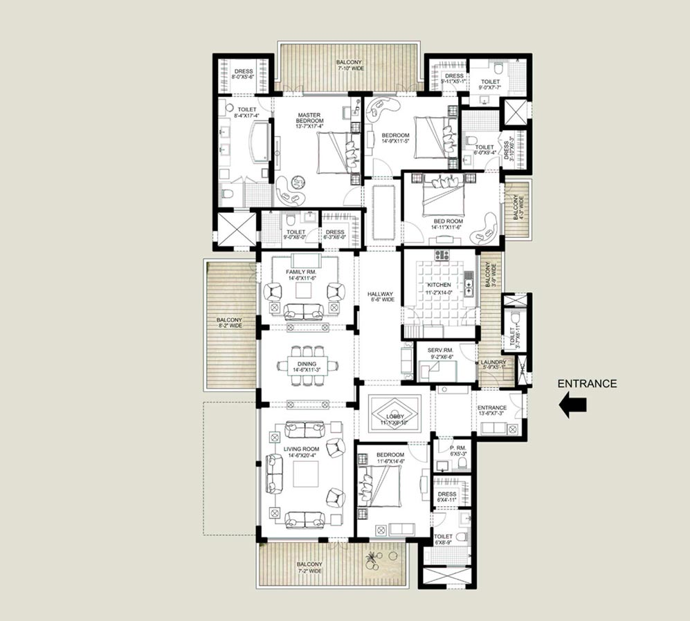 Emaar Mgf Palm Springs Gurgaon Projects Property In Wiring Diagram 4 Bhk Sq