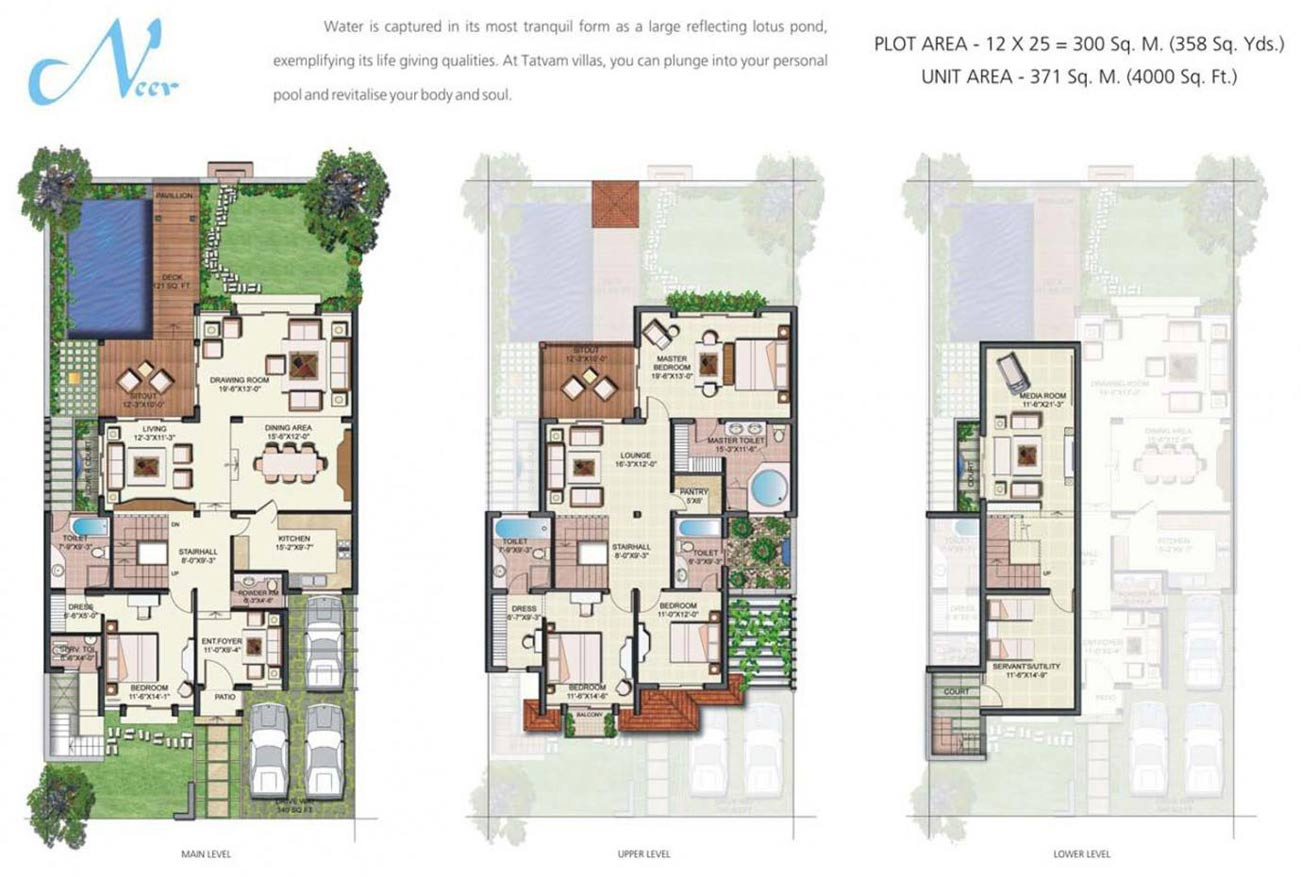 Tatvam villas ready to move homes property in gurgaon for Villa design plan